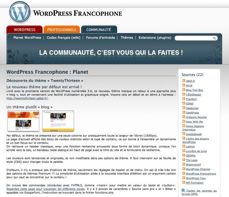 WordPress-Francophone-Planet