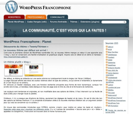 WordPress-Francophone-Planet